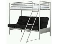 Double Futon bed/sofa with single bunk bed