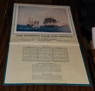 RARE 1967 THE SEAMENS BANK OF SAVINGS NEW YORK CITY CALENDAR EXCELLENT CONDITION