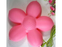 flower lamp in pink