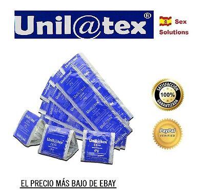 12 x UNILATEX preservativos condones NATURAL apto Durex Play lubricante