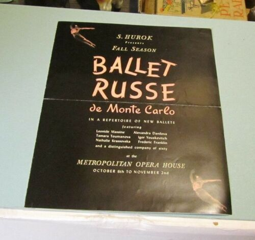 1941 Ballet Russe de Monte Carlo NYC Metropolitan Opera House Brochure Danilova