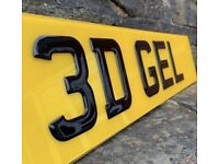 3D DOMED GEL, 4D RAISED NUMBER PLATE SET & CAR SHOW PLATES