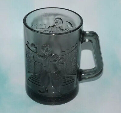 Vintage Ronald McDonald McDonald's Smoky Gray Glass Coffee Mug