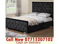 crush velvet bedding base single double king size