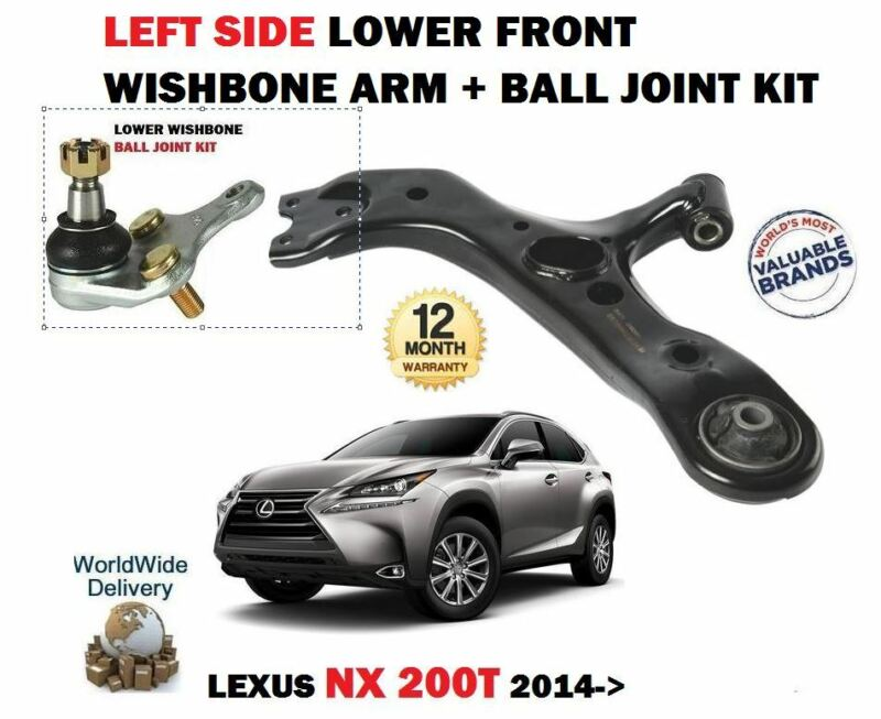 FOR LEXUS NX 200T 300H 2014->NEW LEFT SIDE LOWER WISHBONE ARM + BALL JOINT SET