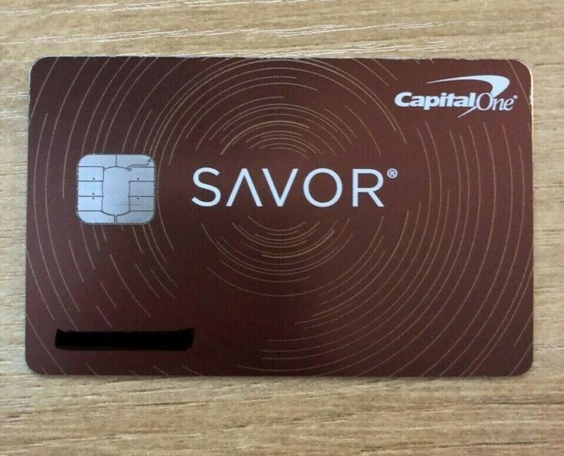 closed Capital One Savor card - METAL - RARE