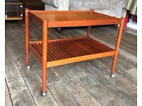 Danish Teak Coffee Table / Trolley