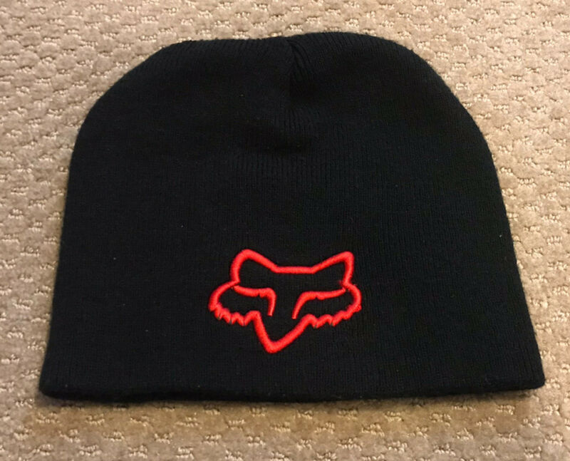 FOX Racing Motocross Beanie Knit Youth/Kids Cap/Hat - Black/Red