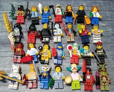 10 NEW LEGO AUTHENTIC MINIFIG PEOPLE LOT random grab bag minifigures men girls