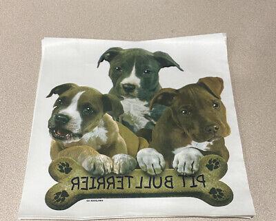 Pitbull Terrier Puppy Dog Pit Bull Puppies Heat Press Transfer Prints 12 Pc Lot