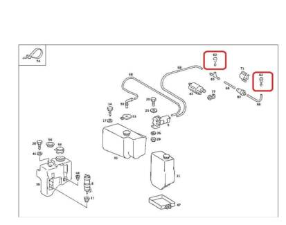 Mercedes Windscreen Washer Nozzle W107 W114 W123