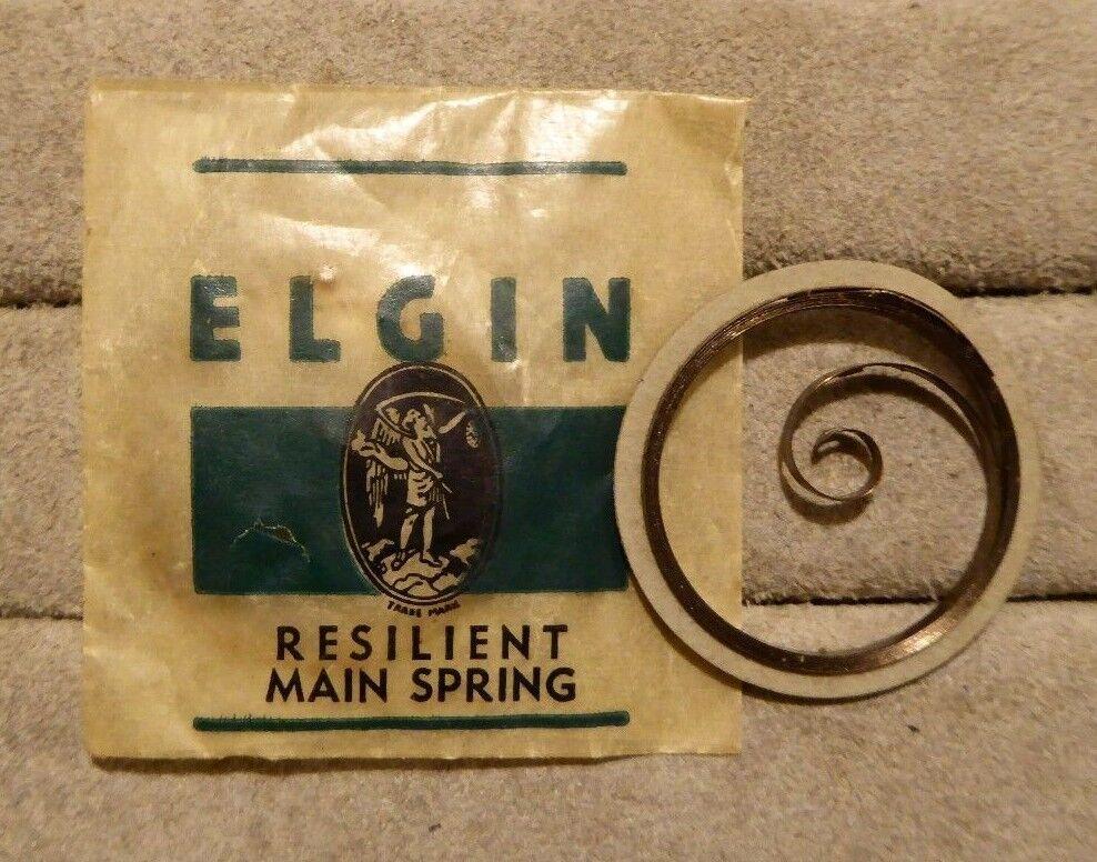 Elgin clock mainsprings in original packets, 29mm max diameter. 2 in total.