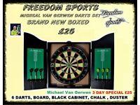 Michael Van Gerwen XQ Max Tour Darts Set FULL MATCH STANDARD BOARD AND CABINET 2 DAY DEAL £25