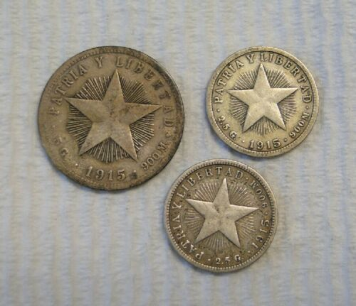 FOREIGN COINS ~ THREE (3) OLD SILVER COINS