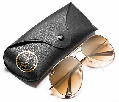 Ray-Ban Aviator Sunglasses RB3025 001/51 Gold/Light Brown Gradient Lens Box