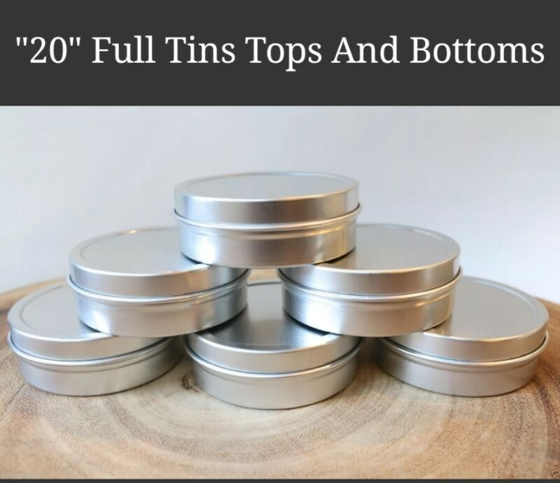2 OZ. BLANK EMPTY SLIP TOP RUST PROOF METAL TIN CONTAINER CRAFT (20 pcs) JAR