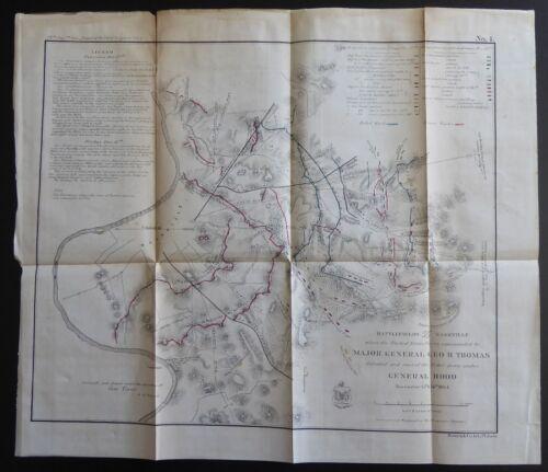 1865 Battlefields In Front of Nashville December 15th & 16th, 1864 Civil War Map