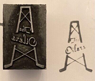 Vintage Tulsa Oilers Logo Baseball Letterpress Block Print Stamp 12 X 1316