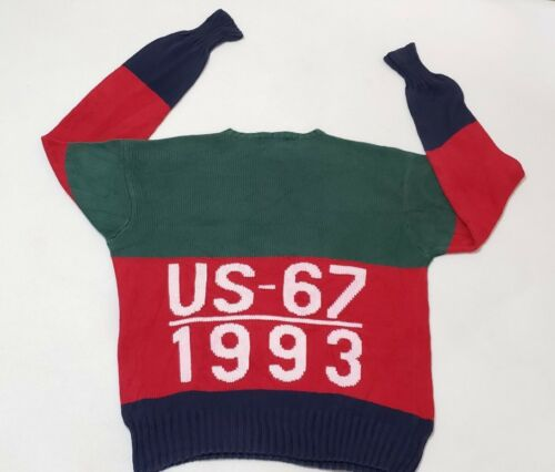 Vintage Polo Ralph Lauren Color Block Sweater Stad