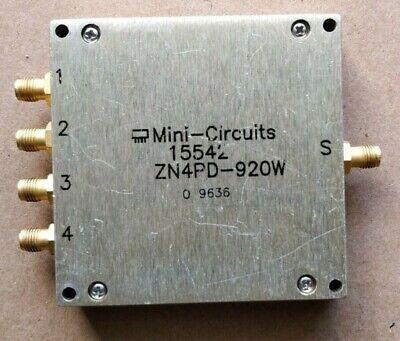 Mini-circuits Zn4pd-920w 4-way Connectorized Power Splitter 670 -1000mhz Sma