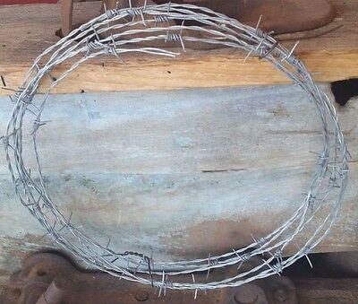 25 ft FEET NEW BARB WIRE ROLL MADE IN USA 18 GAUGE 4 PT ARTS-CRAFTS-PINTEREST