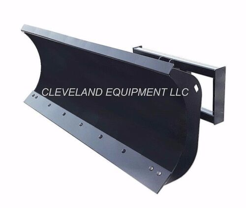 "New 96"" Hd Snow Plow Attachment Hydraulic Angle Blade Bobcat Skid Steer Loader"