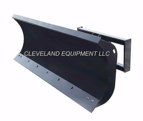 "New 96"" Hd Snow Plow Attachment Skid-steer Loader Angle Blade Terex Takeuchi Jcb"
