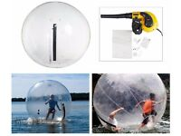 New, unused 'Walk on Water or Land Inflatable Zorb Roll Ball' with blower and repair kit