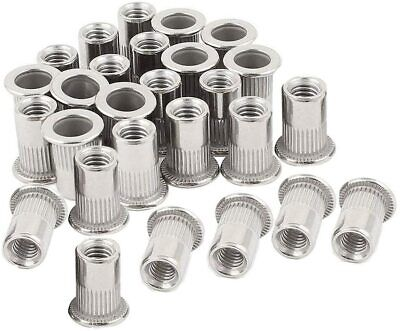 Rivet Nuts Stainless Steel Heavy Duty Threaded Insert Nutsert Rivnuts 40 Pcs
