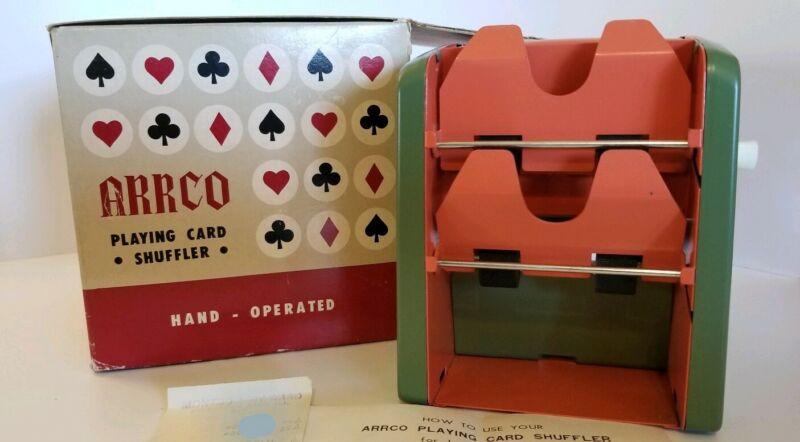 Arrco Playing Card Shuffler 1971 Purchase Hand Crank