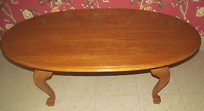 - Ethan Allen Oval Coffee Table Canterbury Oak Collection 28 8410 278 Finish