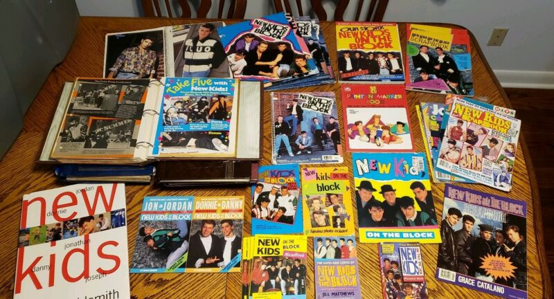 New Kids On The Block Scrapbooks, Books, Folders And Posters Large Lot