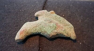 Nice Roman bronze harness mount part found in England in the 1970s L65i