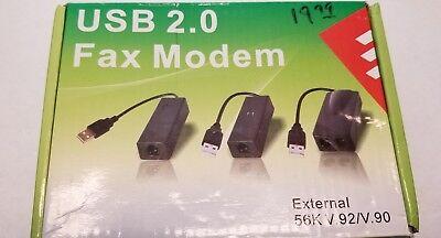 USB 56K V.90 V.92 External Dial Up Voice Fax Data Modem For Win 7 8 8.1 XP VISTA Usb Modems Vista