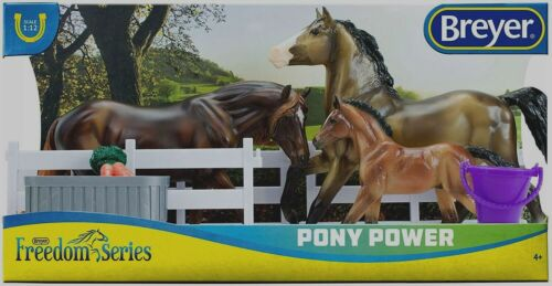 Breyer Freedom Series Pony Power Set buckskin stallion mare & foal  # 62200 NEW