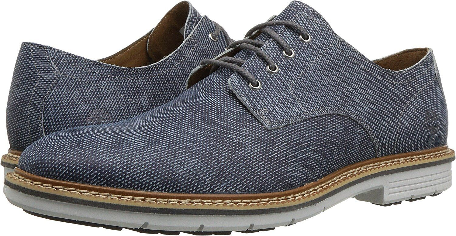 Timberland Kendrick Cap Toe Oxford Leather Shoes Men Casual Shoes NEW Blue