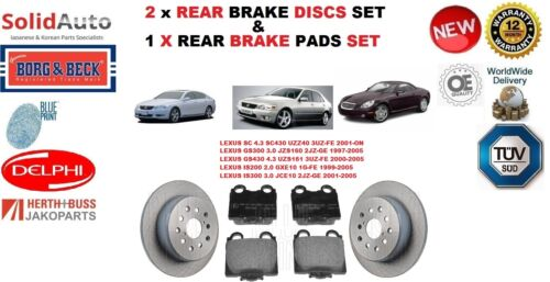 FOR LEXUS GS300 GS430 IS200 IS300 SC REAR BRAKE DISCS SET + DISC PADS KIT NEW