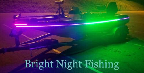 16 ft UV / Green LED Strip Black Light Night Fishing Ultraviolet Boat BLACK PCB