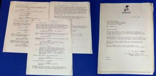 RAMBO 3 original script MARLON BRANDO with notations SYLVESTER STALLONE rare!