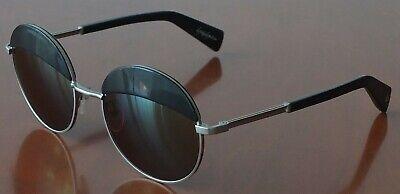 Yohji Yamamoto Sonnenbrille YY7004 914 Rund Metall Titanium, dunkelblau/braun