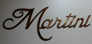 Details About Martini METAL ART WALL DECORATION COPPER BRONZE PLATED