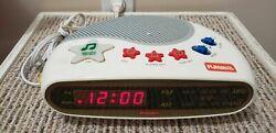 PLAYSKOOL Vintage Kids Digital Alarm Clock Music AM/FM Radio PS-360 WORKS