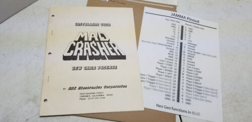 Mad Crasher SNK Manual #1320