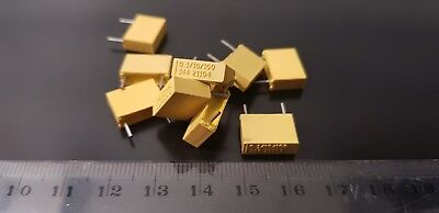 Philips Mkt Polyester Capacitor 0.1uf 10 100v 10 X Pieces