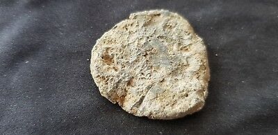 Lovely large Roman lead weight/gaming piece, please read description. L102x