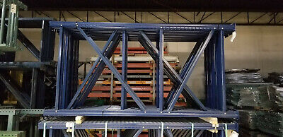 8 X 48 Teardrop Mecalux Pallet Rack Upright 3x3 Post Color-blue