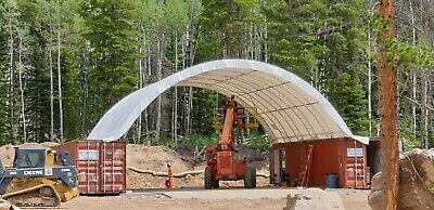 40 X 40 Dual Truss Pvc Fabric Container Shelter