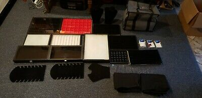 Complete Jewelry Vending Set Display Cases Carrying Case Table Clothes