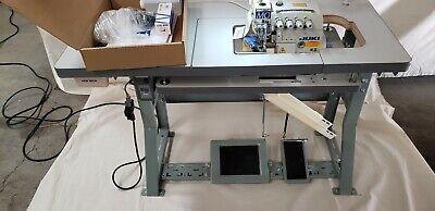 Juki 4-thread Overlock Sewing Machine Wtable Servo Motor Mo-6814s Complete