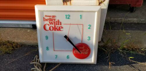 1960s Vintage Coca Cola Store Display Sign Clock Advertising